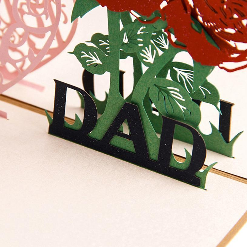 Handmade Pop Up I Love Dad Father's Day Greeting Card