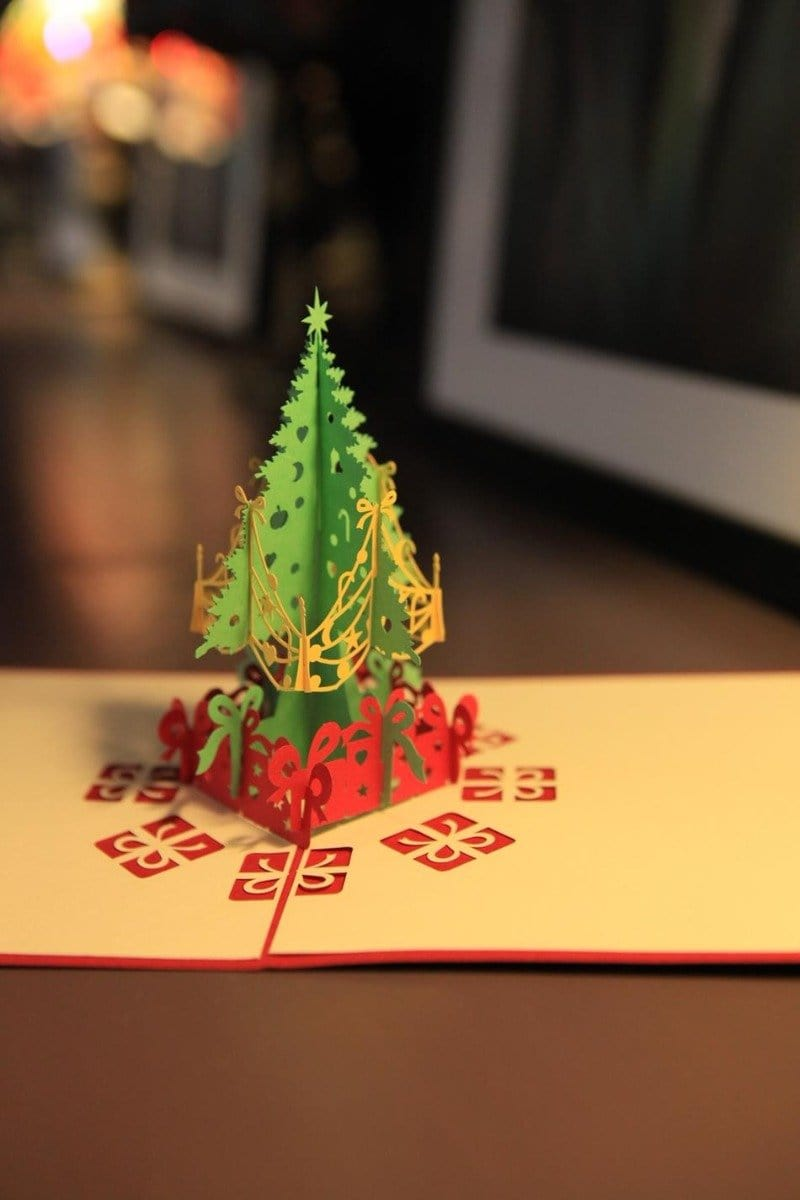 3D Pop Up Merry Christmas Tree Greeting Card
