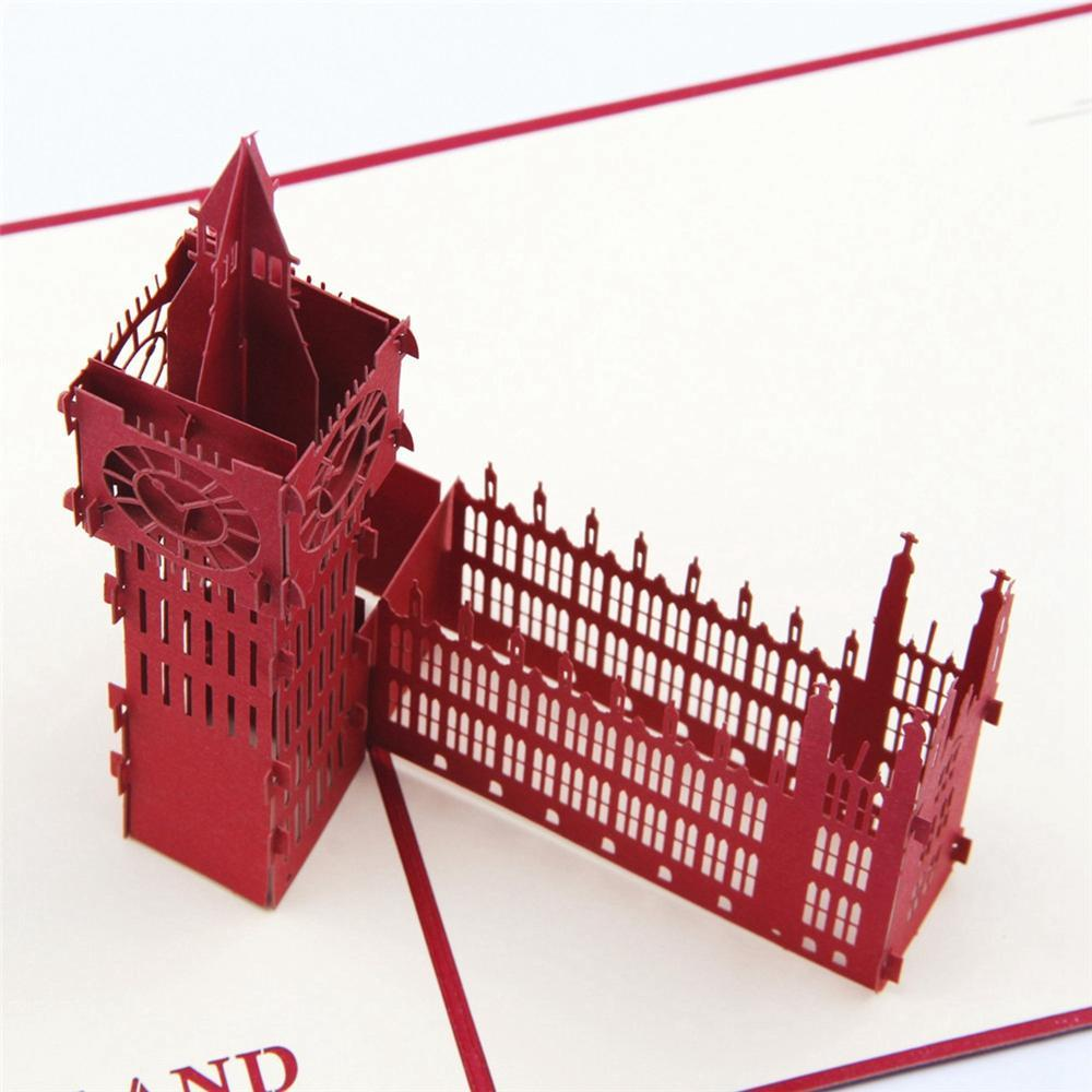 Red Big Ben POP UP Greeting Card