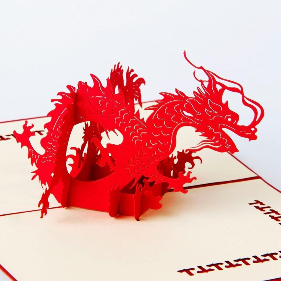 Handmade 3D Pop UP Dragon Greeting Card