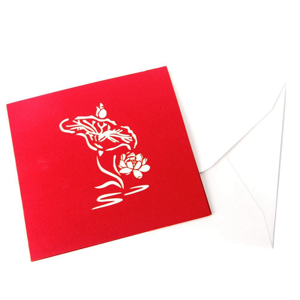 Pop UP Lotus Flower GREETING CARD