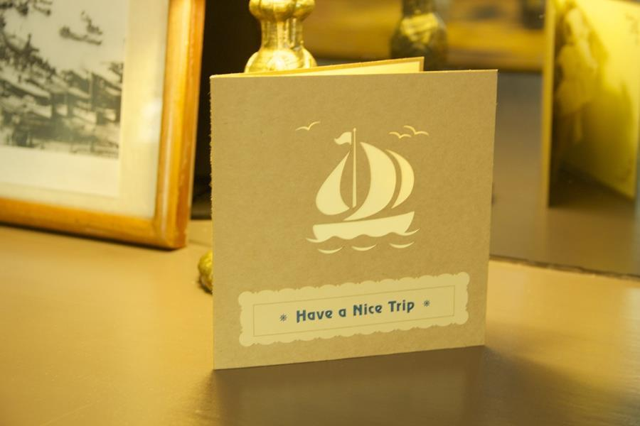 Vintage - Have a Nice Trip - Bon Voyage Pop Up Greeting Card