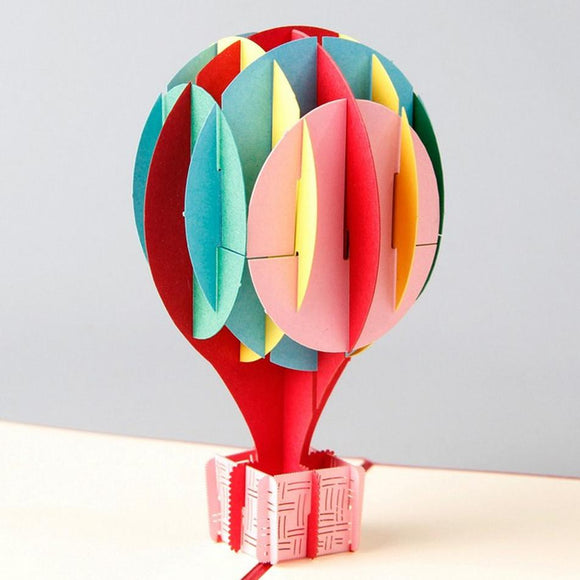 Hot Air Ballon Shape 3D Pop up Greeting Card