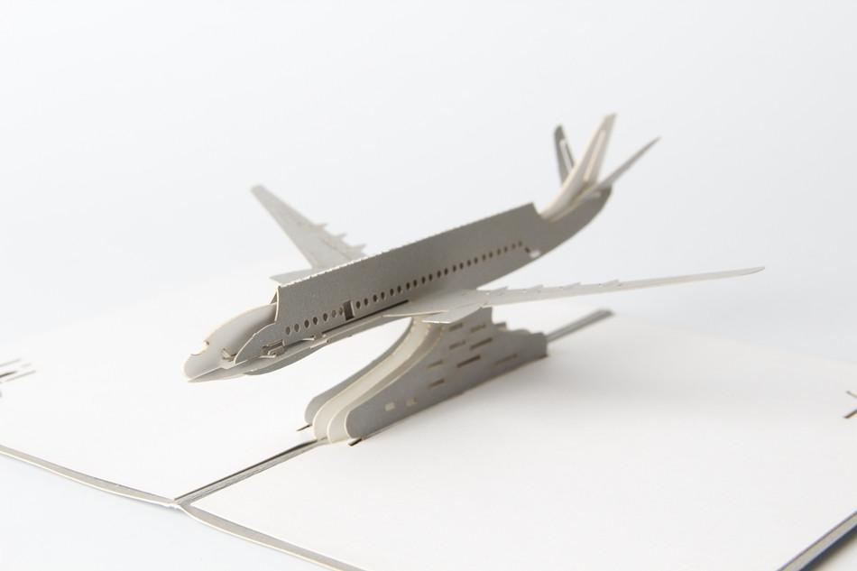 The Airplane 3D Pop up Greeting Card