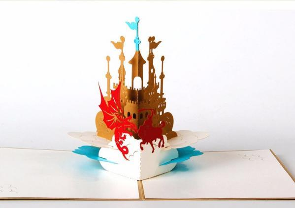 Castle 3D Pop up Greeting Card