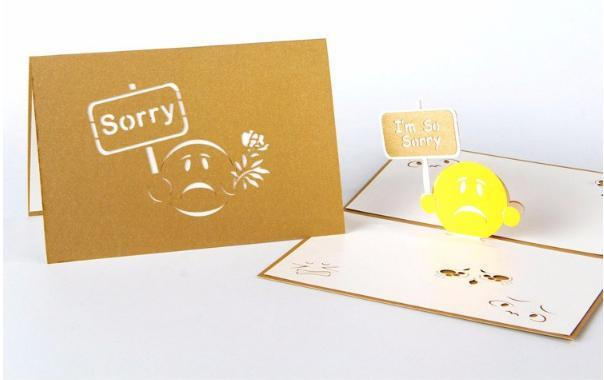 I am Sorry 3D Pop up Creative Greeting Card