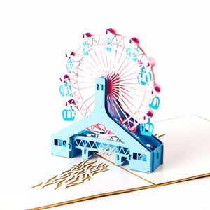 Ferris wheel 3D Pop up Greeting Card