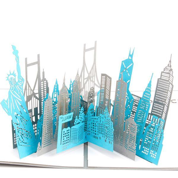Large New York City 3D Pop up Greeting Card