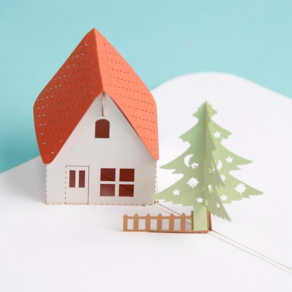 The Twilight house 3D Pop up Greeting Card