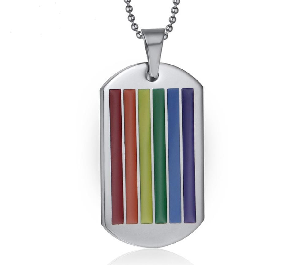 LGBT Flag Rainbow Pride DogTag Necklace