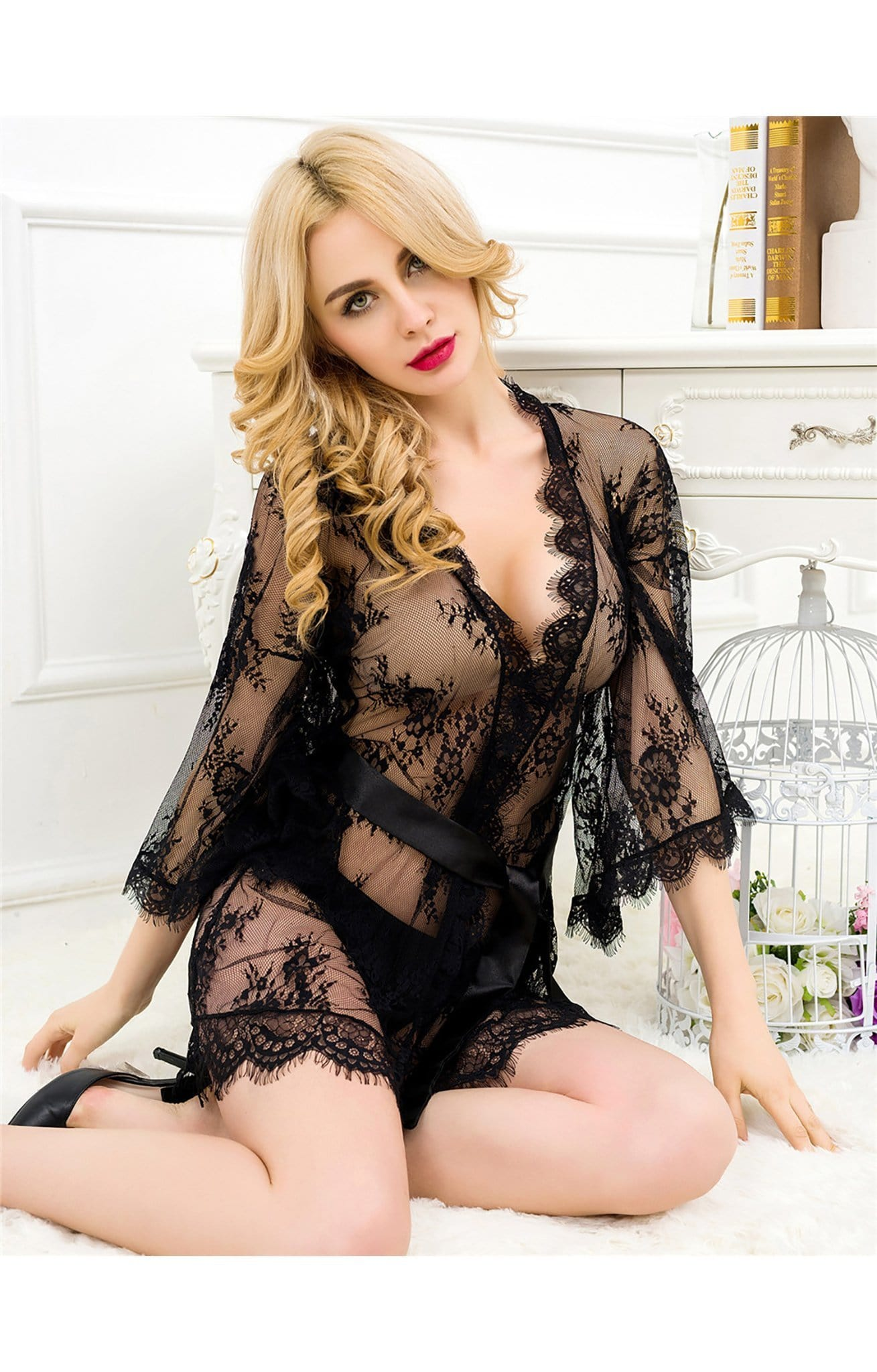 Lace Nightgown Long