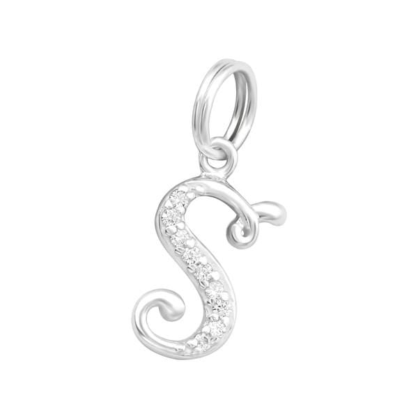 Silver  Letter S Charm