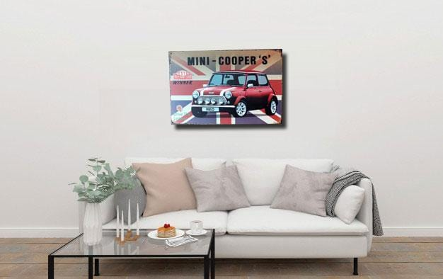 Mini Cooper Metal Tin Poster