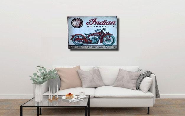Indian Motarcyle Metal Tin Sign Poster