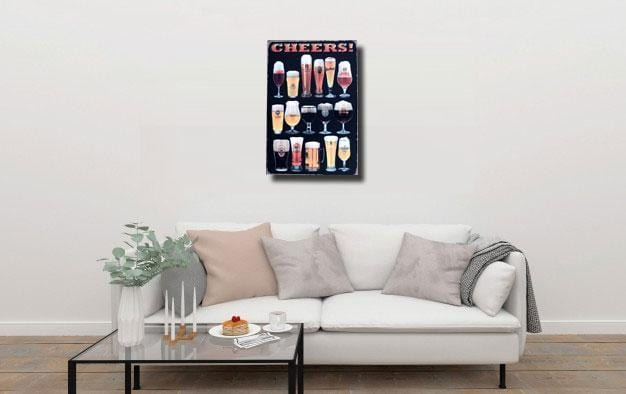 Beer Menu Cheers Metal Tin Sign Poster