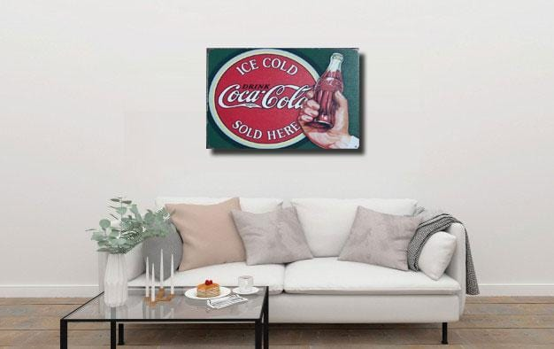 Coca Cola Sold Here Metal Tin Sign Poster