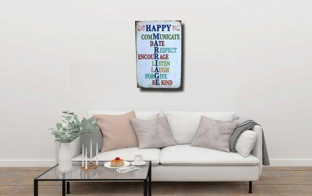 Happiness Quotes Tin sign Poster
