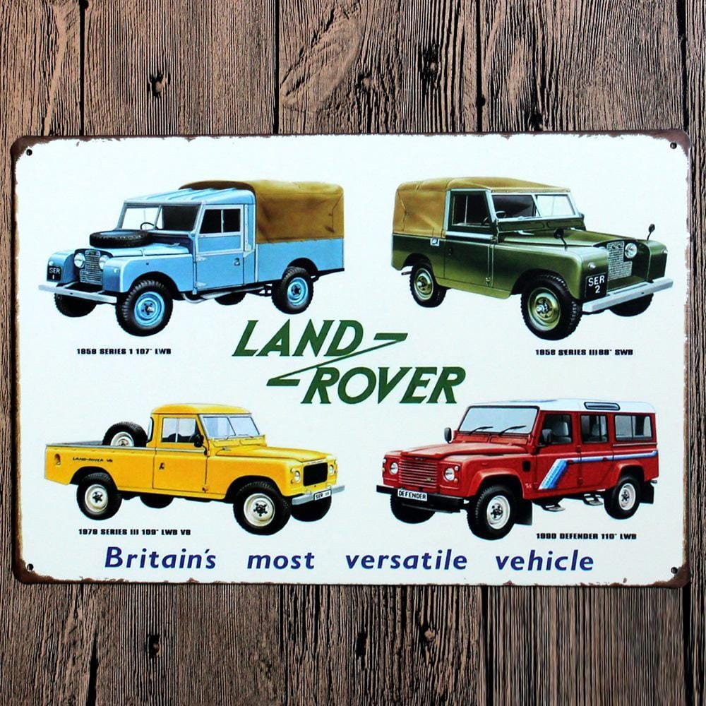 Land Rover Metal Tin sign Moister
