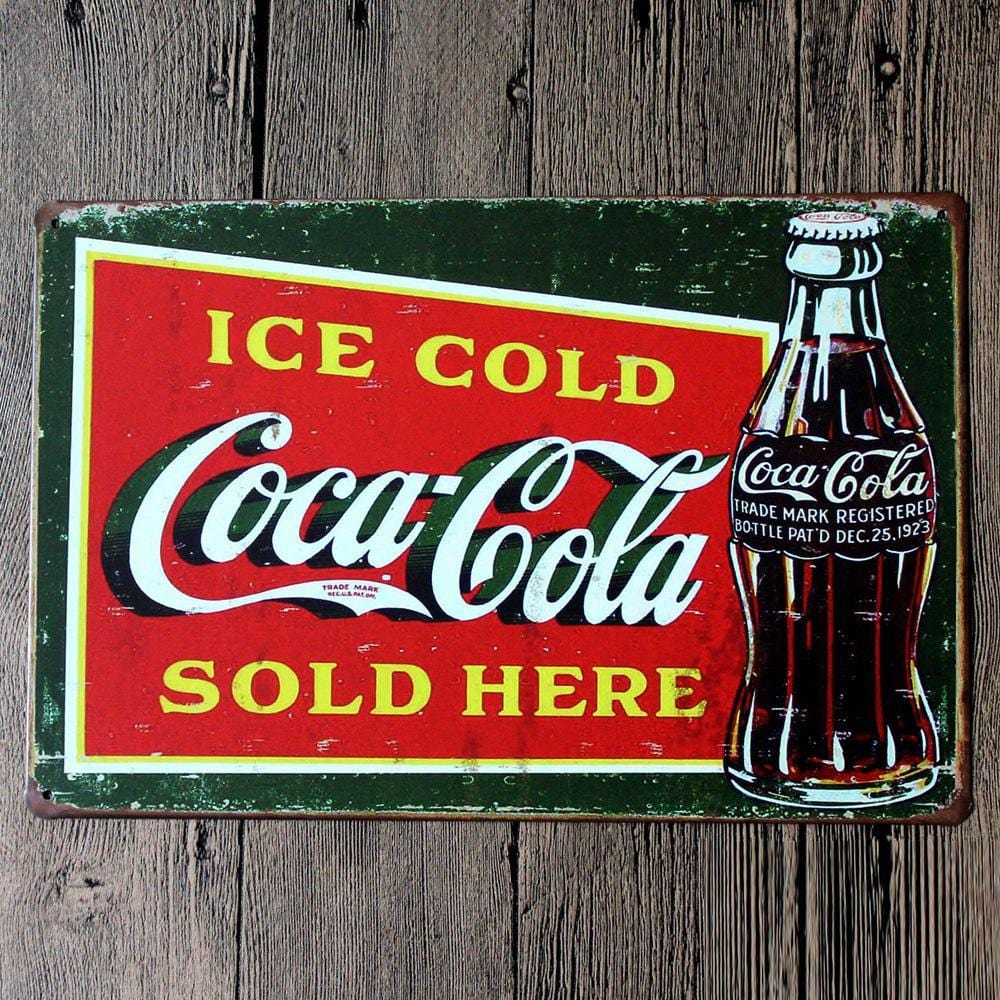 Coca Cola Metal Tin Sign Poster