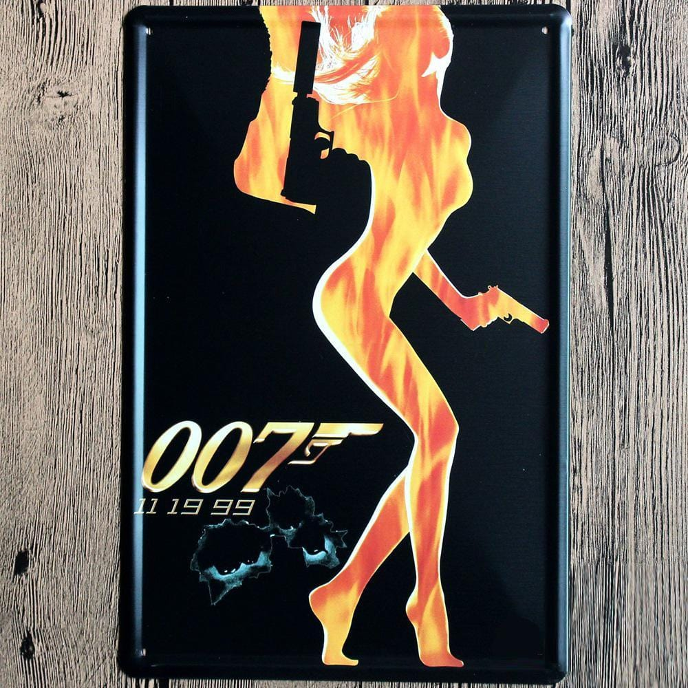 007 Sexy Girl  Metal Tin Sign Poster