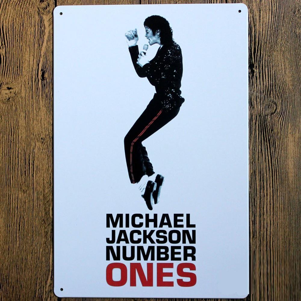 Michael Jackson Metal Tin Sign Poster