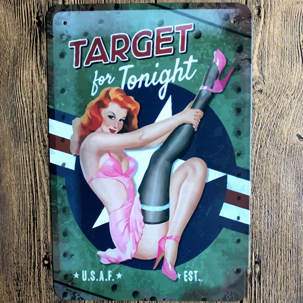 Target for Tonight Metal Tin Sign Poster