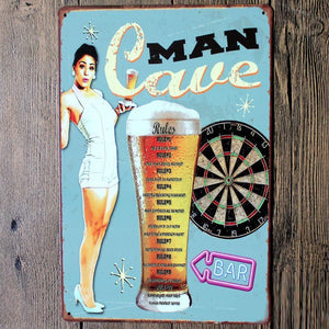 Man Cave Metal Sign Tin Poster