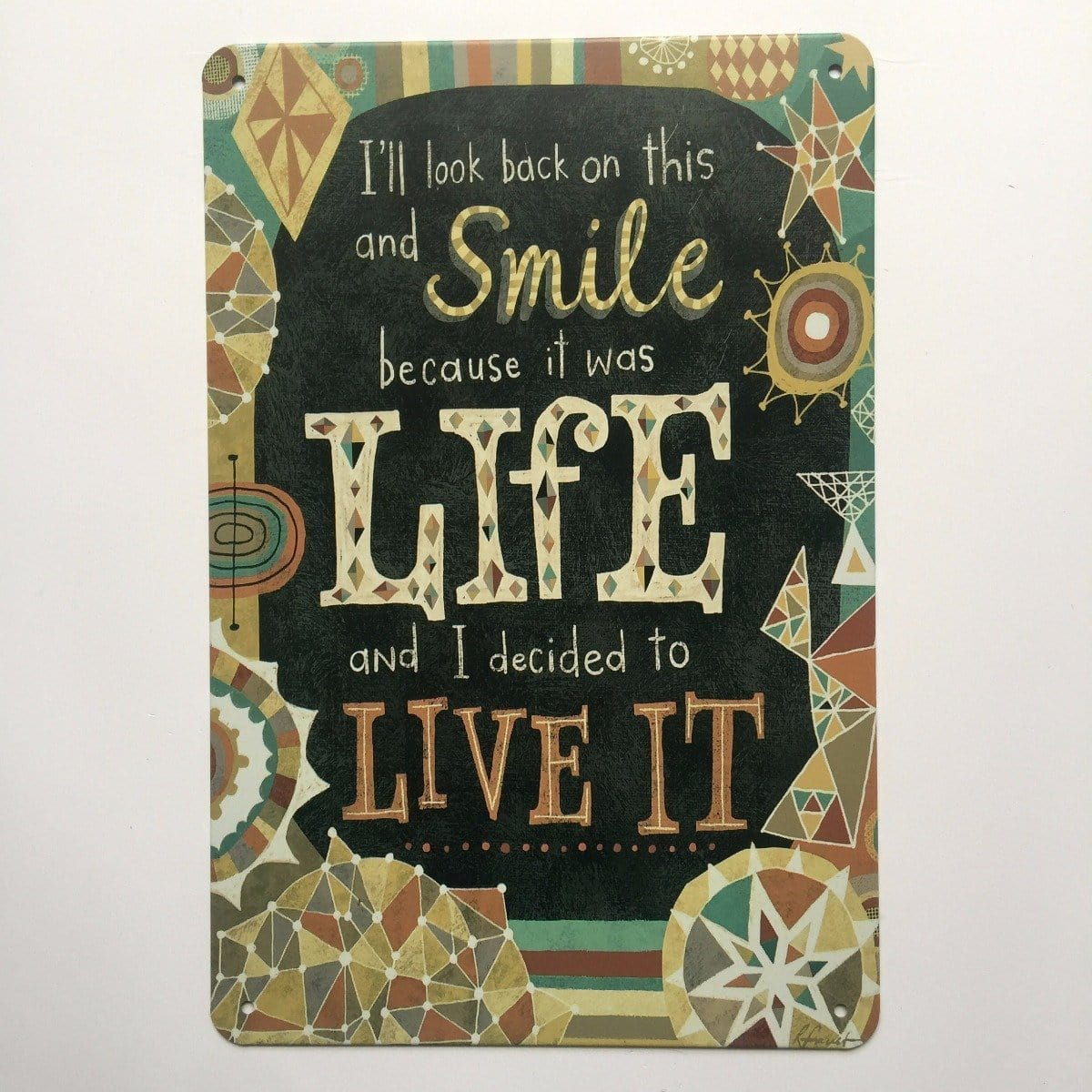 Life Is A Beautiful Thing Quote Metal Tin Sign Poster