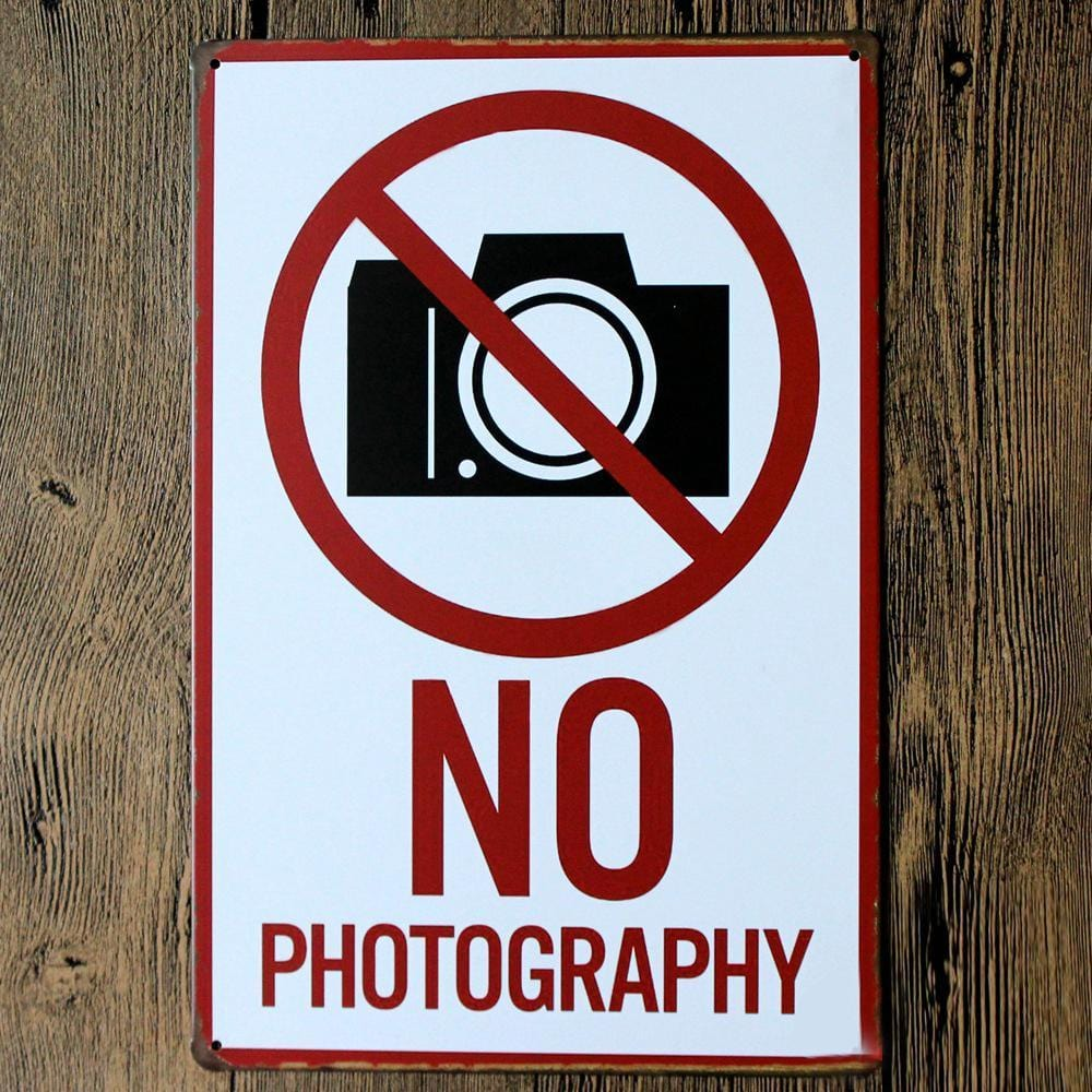 No Photography Allowed Sign Tin Poster