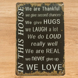 House Quote Signs Wall Hanging