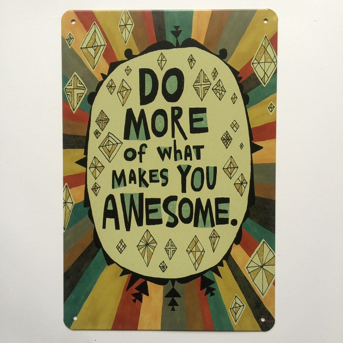 Do More Quote Metal Tin Sign Poster