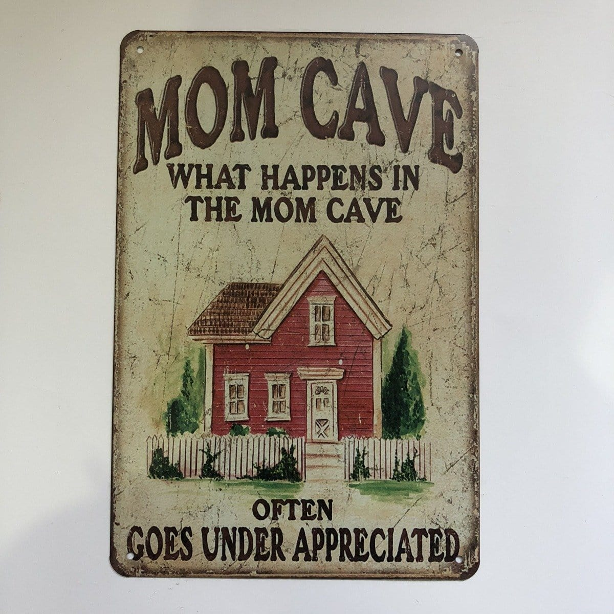 Mom Cave Sign Metal Poster