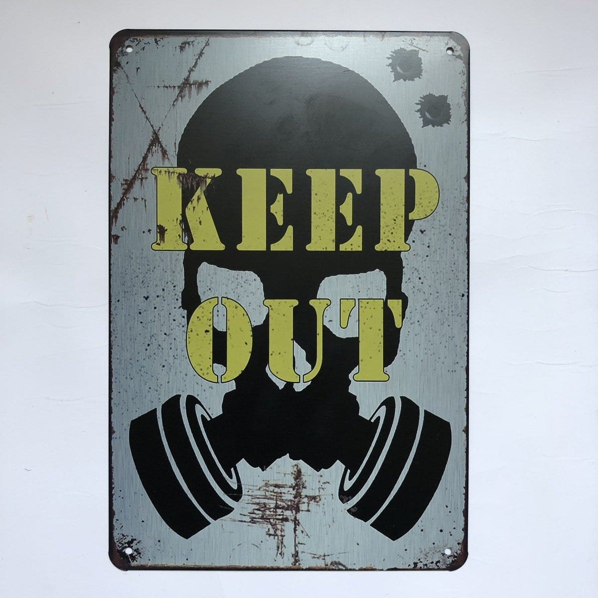 Keep Out Metal Poster