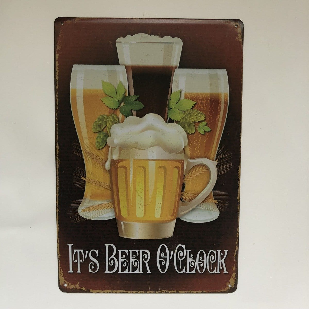 Its Beer O clock Metal Tin SIgn Poster