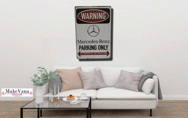 Mercedes Benz Parking Metal poster