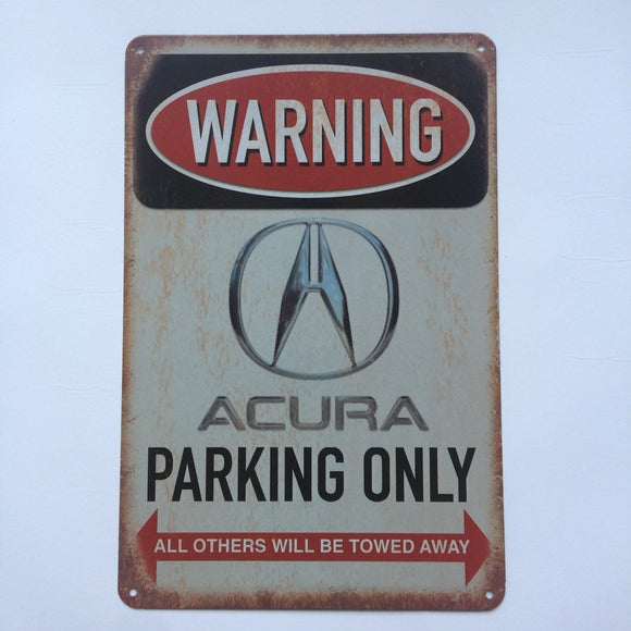 Acura Parking Only Sign Metal Poster