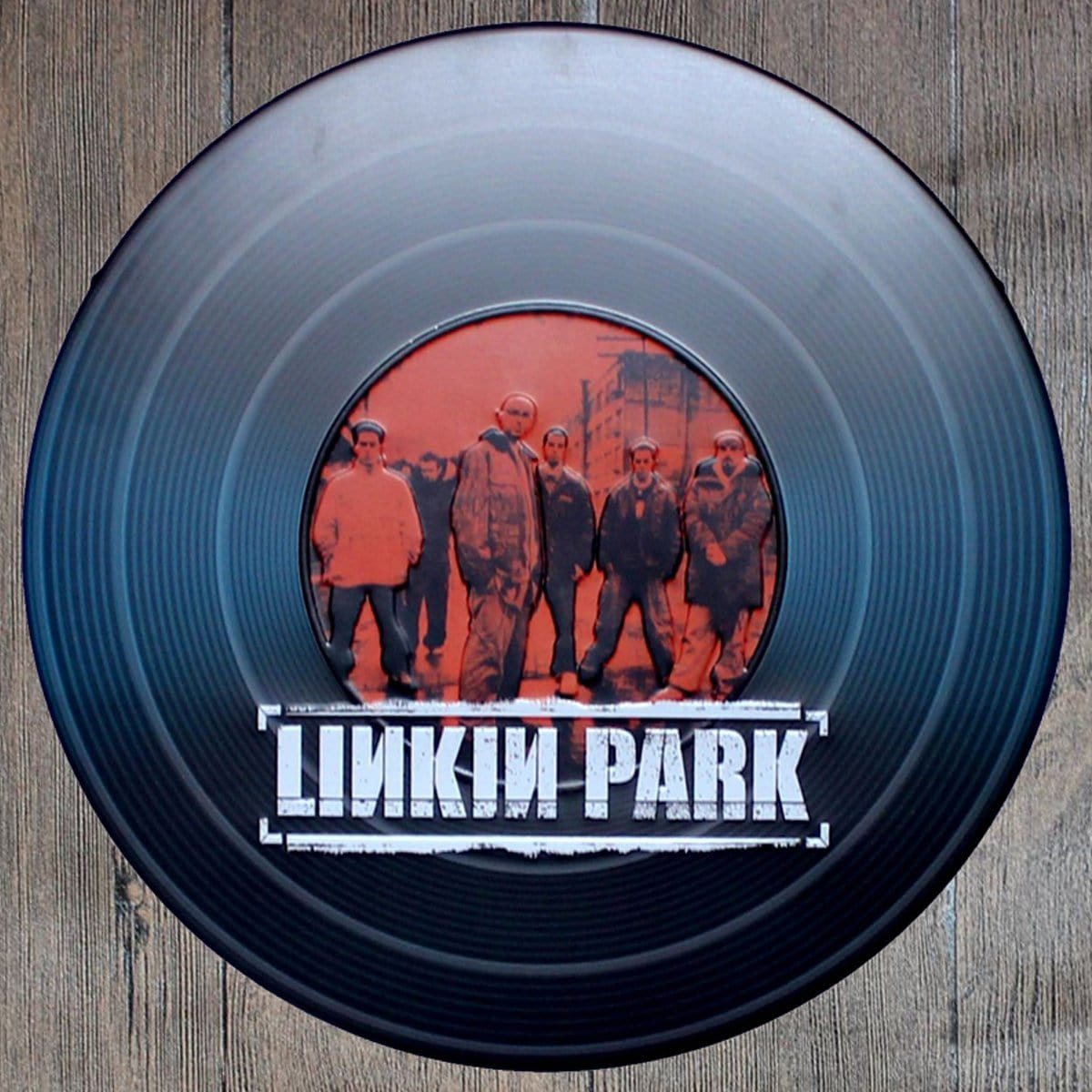 Linkin Park Round Embossed Metal Tin Sign Poster