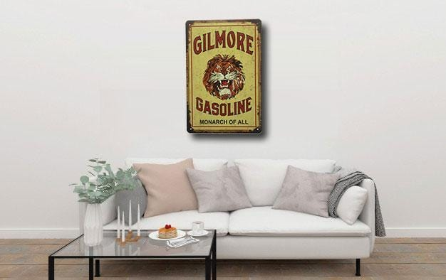 Gilmore Gasoline Tin Sign Poster