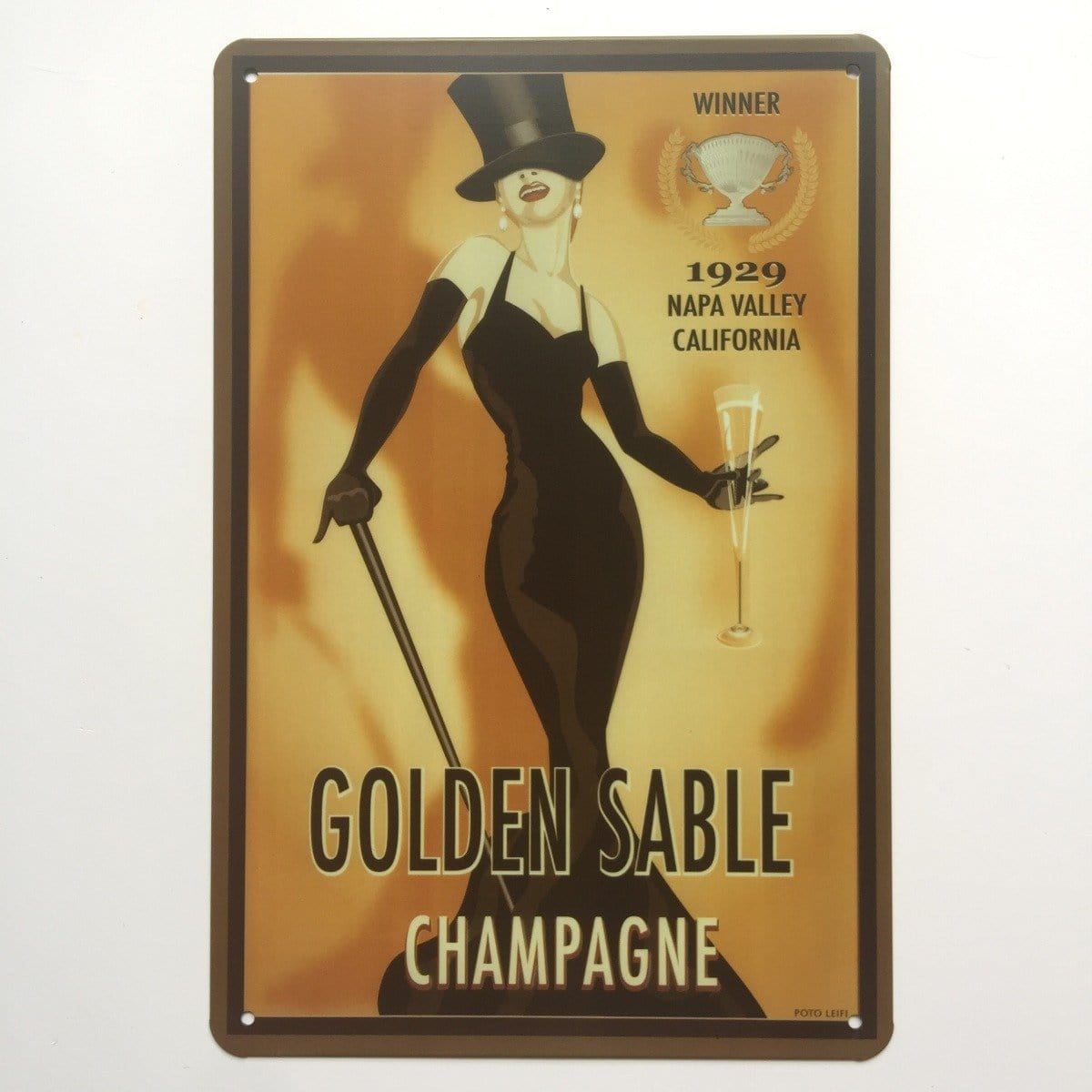 Golden Sable Champagne Poster