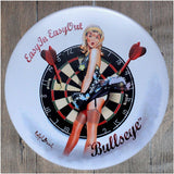 Easy In/Out Bullseye Round Metal Tin Sign Poster
