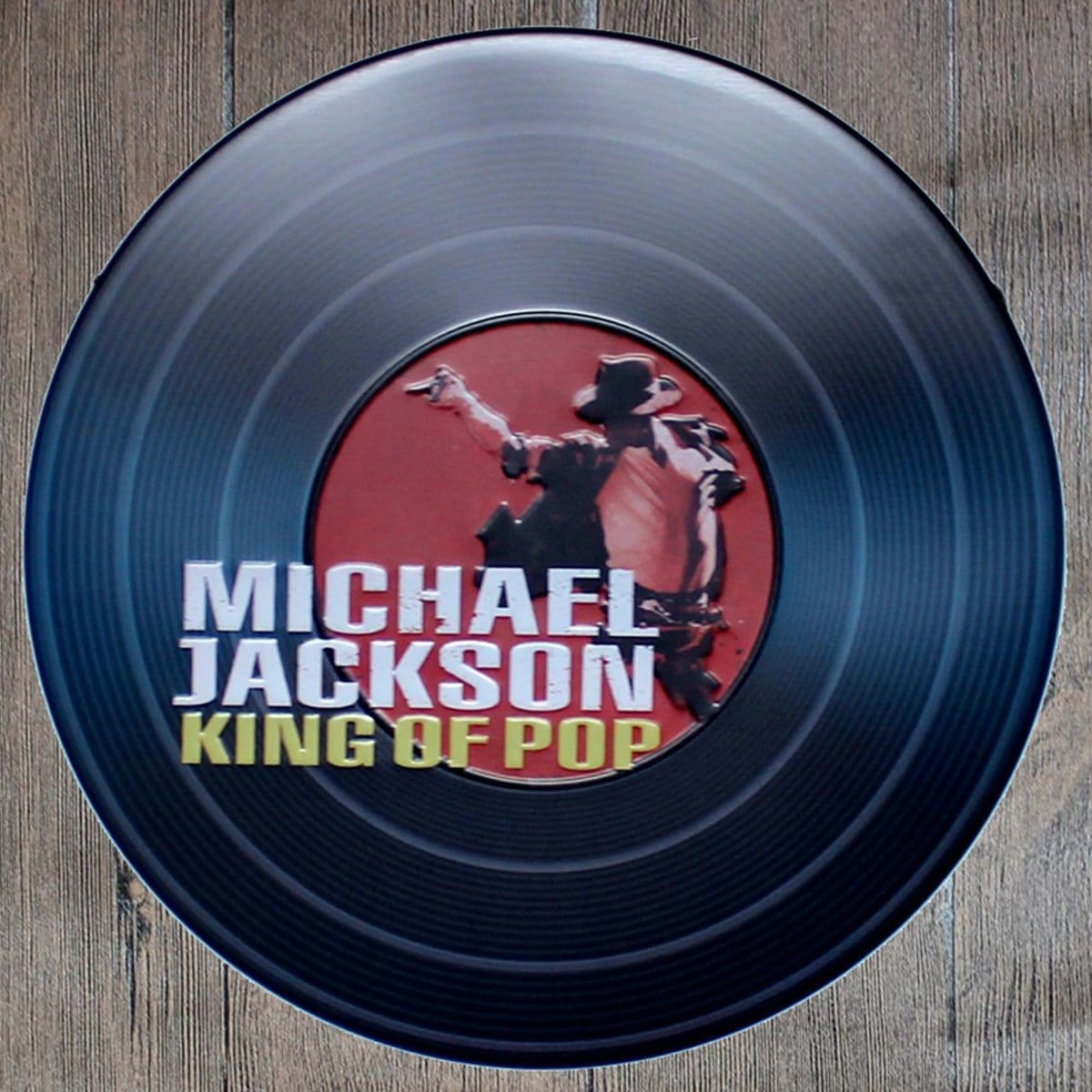 Micheal Jackson King of Pop Round Embossed Metal Tin Sign Poster
