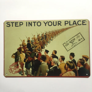 Step Into Your Place Metal Poster