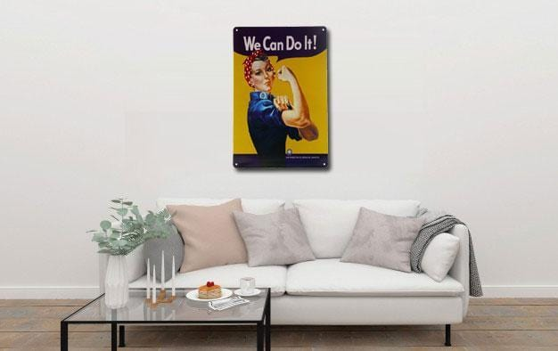 We Can Do It Metal Tin Poster