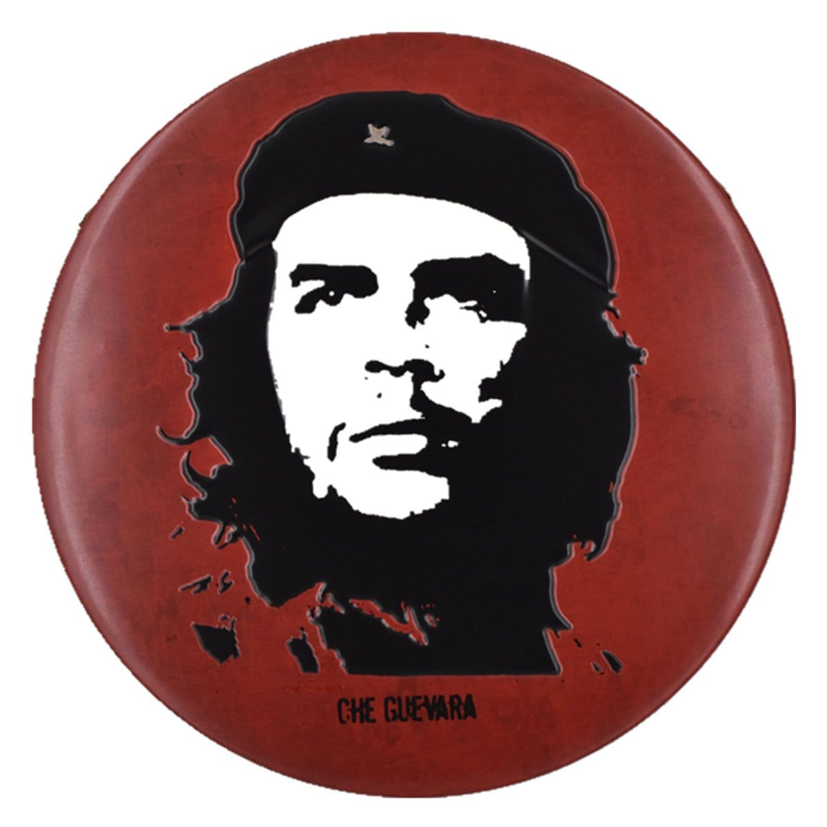 Che Guevara Round Embossed Metal Tin Sign Poster
