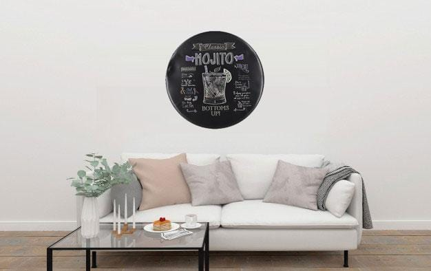Classic Mojito Round Embossed Metal Tin Sign Poster