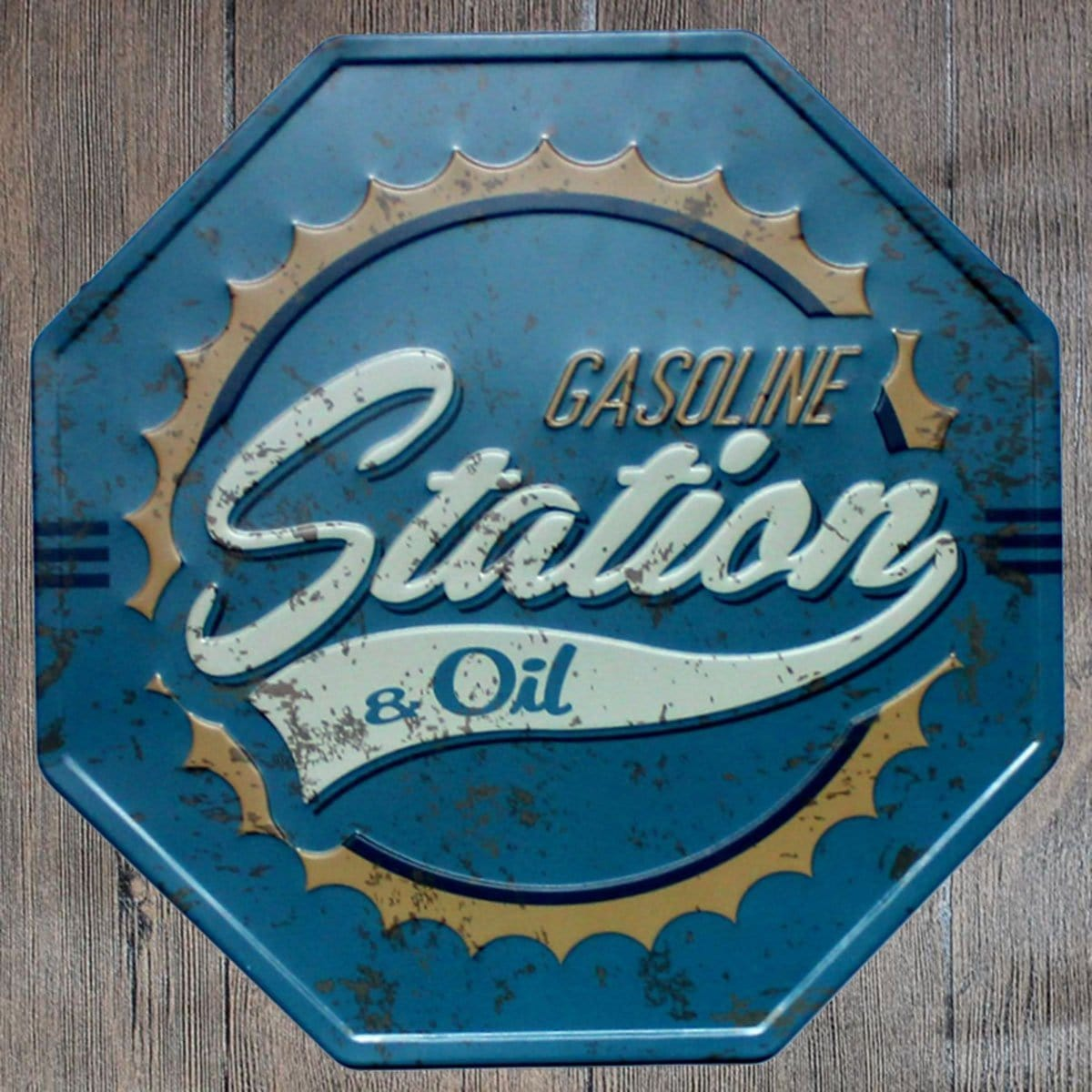 Gas Station Oil Octagon Metal Tin Sign Poster