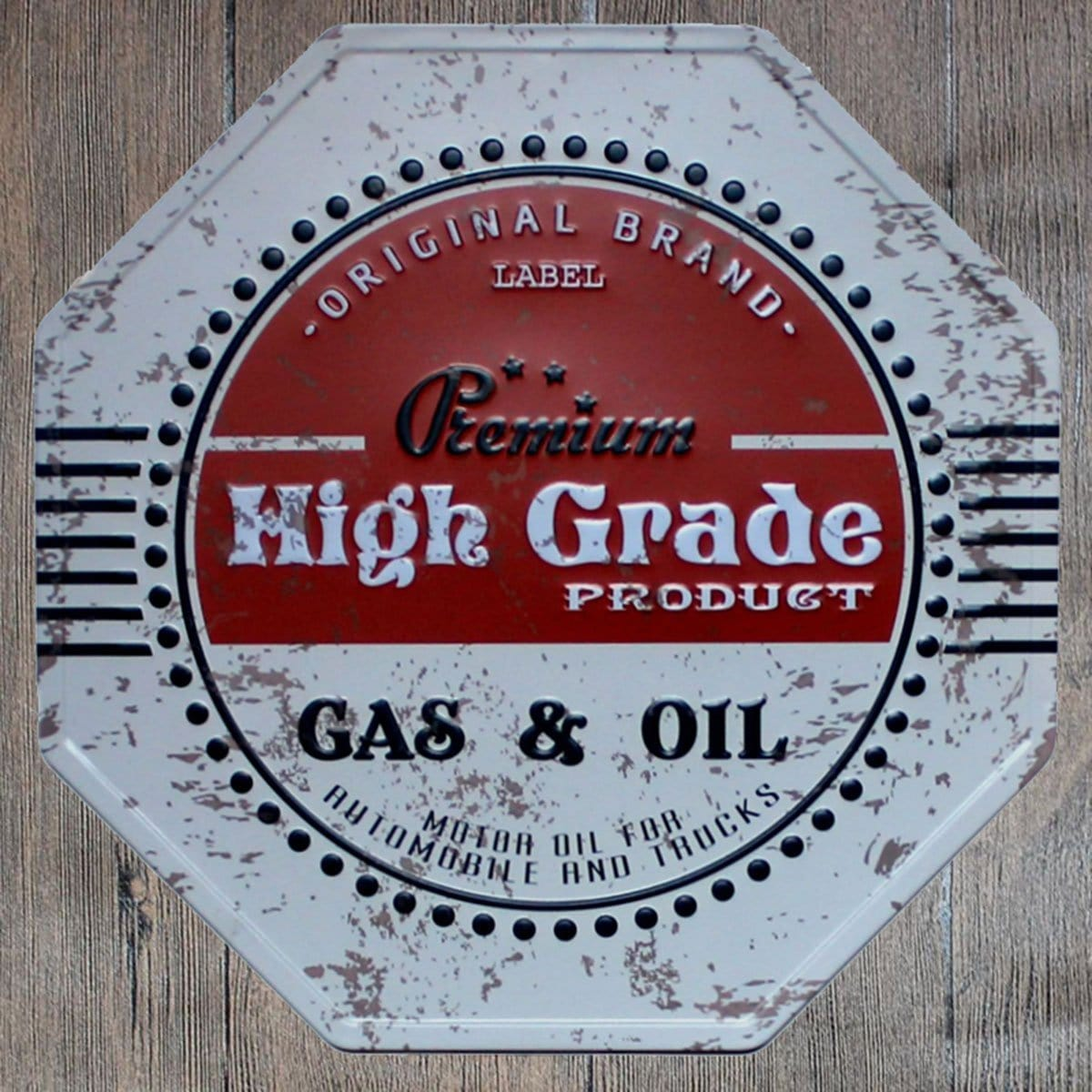 Premium High Grade Octagon Metal Tin Sign Poster