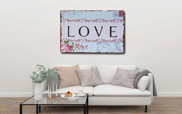 Love Metal Tin Wall Poster