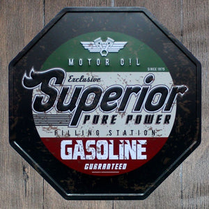 Superior Pure Power Octagon Metal Tin Sign Poster