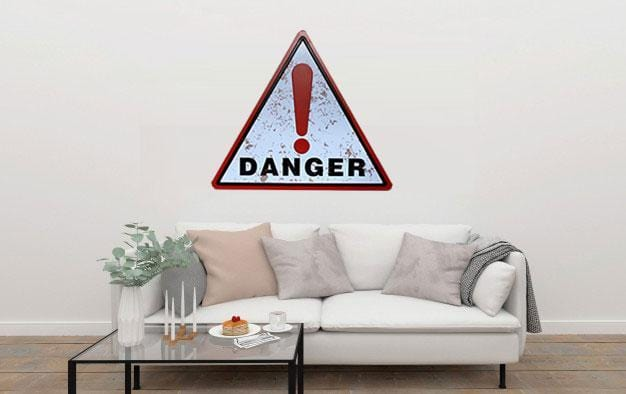 Danger Triangle Metal Tin Sign Poster